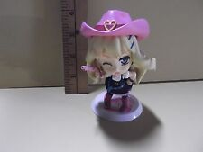 "#A77 Unknown Anime 3.5""in Sheryl Nome Darling Pink Cowgirl Outfit Big Head"