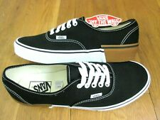Vans Authentic Mens Gum Block Canvas Skate Boat shoes Black White Size 11 NWT