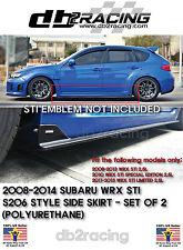 S206-Style Side Skirts (PU) Fits 08-14 Impreza WRX STi SUBIE AWD JDM