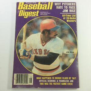 VTG Baseball Digest Magazine August 1978 - Boston Red Sox's Jim Rice / Newsstand
