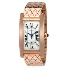Cartier Tank Americaine Silvered Flinque Dial Ladies Watch W2620032