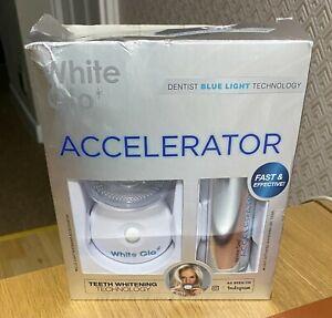 WHITE GLO ACCELERATOR PROFESSIONAL TEETH WHITENING KIT DENTIST BLUE LIGHT TECH