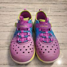 Stride Rite Made 2 Play Phibian Girls Toddler 11M Purple/Rainbow Waterproof