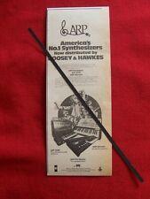 ARP SYNTHESIZER 1973 ORIGINAL VINTAGE ADVERT PRO SOLOIST 2600 ODYSSEY