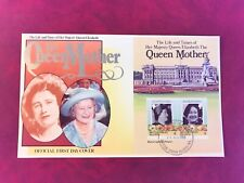 BRITISH VIRGIN ISLANDS BVI 1985 FDC QUEEN MOTHER MINISHEET BUCKINGHAM PALACE