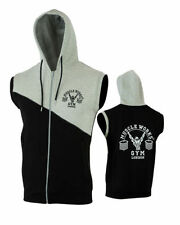 Hooded Sleeveless Fleece Tops Hoodies & Sweats for Men
