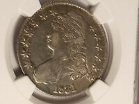1831 50 CENT VF DETAILS, NGC CERTIFIED, CLEANED. BEAUTIFUL!!!LE459