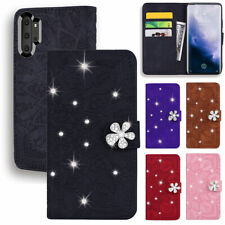 Luxury Bling Diamond PU Leather Flip Wallet Case Cover For Sasmung S10 9 + Strap