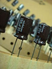 (25) NICHICON UPL1V101MPH 100uF 35V 105° LOW IMPEDANCE RADIAL ELECTROLYTIC CAP