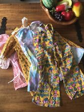 Lot Of Girls Vintage 60s 70s Mod Clothing Toddler Size 2T Approx Overalls