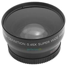 0.45x 52mm Super Wide Angle Macro Lens+Bag+Cover for Nikon 18-55mm 55-200mm 50mm