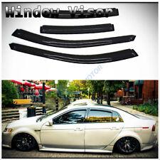 4pcs Smoke Tint Sun/Rain Guard Vent Shade Side Window Visors Fit 04-08 Acura TL