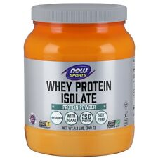 NOW Foods Whey Protein Isolate Unflavored 1.2 lbs,clearance for exp date 07/2020