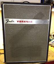 Fender Vibratone Leslie Effects Speaker Cabinet,Original Footswitch-Parts/Repair