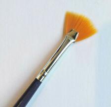 Nail Art Orange Bristle Fan Brush for Glitter acrylic arts crafts gel makeup