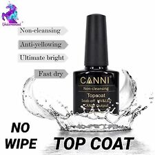NO WIPE TOP COAT FOR MIRROR UNICORN PIGMENT POWDER CANNI UV LED GEL NAIL POLISH