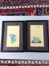 Pair of framed Chinese watercolour paintings of children signed and dated 2007