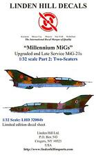 Linden Hill Decals 1/32 MILLENNIUM MiGs Upgraded Late Service MiG-21 Two Seaters
