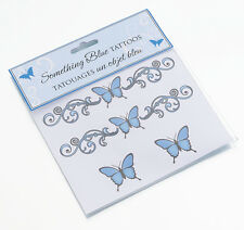 Something Blue Temporary Tattoos Fun Bridal Shower Gift For Bride