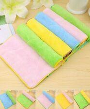 5PCS Durable Bamboo Fiber Dish Towel Kitchen Towels Dishcloth Wash Rag Dining