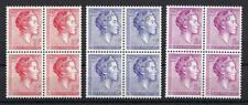 Luxembourg 1960 Sc# 363/67 Grand Duchess Charlotte blocks 4 MNH