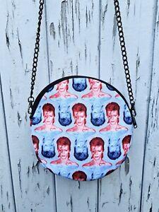 Round Red & Blue Bowie Bag - Handbag David Aladdin Sane