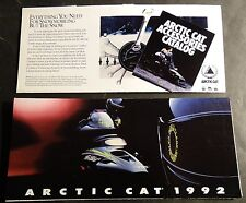 "1992 ARCTIC CAT SNOWMOBILE SALES BROCHURE 4"" X 8"" NICE (286)"