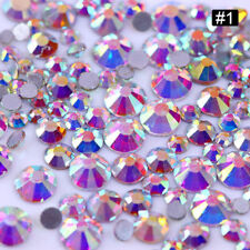 Crystal AB Rhinestones Glass Flatback Clear Strass Stones for Nail Art Phone