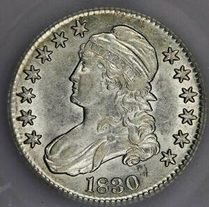 1830-P 1830 Capped Bust Half Dollar ICG AU50 Super lustrous looks better