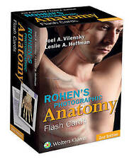 NEW Rohen's Photographic Anatomy Flash Cards by Joel Vilensky
