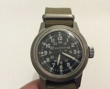 Waltham Korean War Military Model 6/0-D 17 Jewel Hacking Wristwatch Runs!
