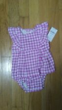 Carter's Baby Girl Purple Sleeveless Dress size 6 months
