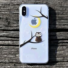 MADE IN JAPAN Hard Shell Clear Case Cute Owl for iPhone X