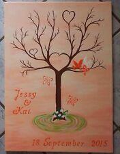Weddingtree/Fingerabdruck/Hochzeitsbaum (50x70cm) in Wunschfarbe, handgemalt