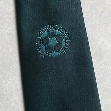 DISTRETTO di Yeovil & Scuole fa Tie retrò vintage, verde scuro Leonard Hudson 1990 S