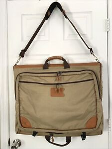 LL BEAN Men's Brown Canvas Garment Travel Bag