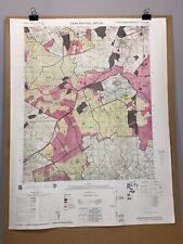 Camp Mackall US Army Airfield North Carolina 1982 Map Richmond County Scotland