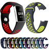 For Fitbit Charge 4 3 Dual Colors Silicone Sports Replacement Strap Watch Band