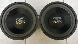 "(2) OldSchool MTX Road Thunder TWO 10"" Subwoofers"