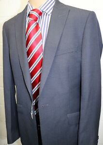 Grey Slim Fit Wool Mix Suit