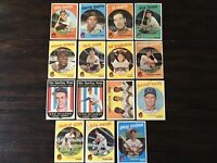 ⚾️1959 Topps Baseball Cards Cleveland Indians Lot Of 15 Minnie Minoso⚾️