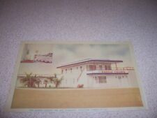 1940s GADDIS COURTS, NO. MT. PLEASANT TEXAS LINEN POSTCARD