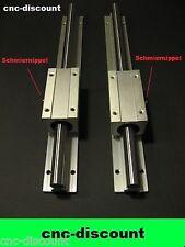 CNC Set 20x 270mm 2x lange Linearwagen Linearführung Linear Guide Rail  3D Fräse