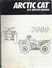 2000 ARCTIC CAT ATV 250 300 400 500 4x4 2x4 SHOP SERVICE REPAIR MANUAL 00 on CD