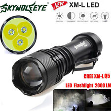 2000LM CREE Q5 AA/14500 3 Modes ZOOMABLE LED Flashlight Torch Super Bright 2017