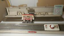 Vintage Silver Studio SK-103 Automatic Knitting Machine with Ribber Attachment
