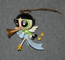 The Powerpuff Girls Buttercup Angel w Joy Banner Christmas Ornament
