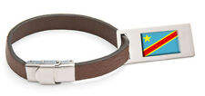 Za´re Flag Leather Luggage Tag Steel Engraved Text