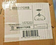 Meridian Lite Trends 1 Light Oil Rubbed Bronze Semi Flush Mount M60017ORB