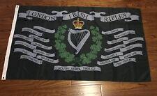 London Irish Rifles Battle honours Flag 5X3FT
